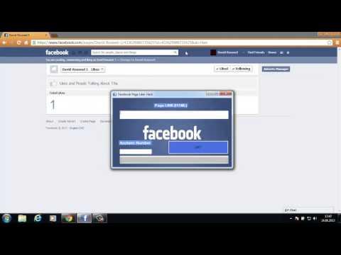 Facebook Page Liker HACK 2013