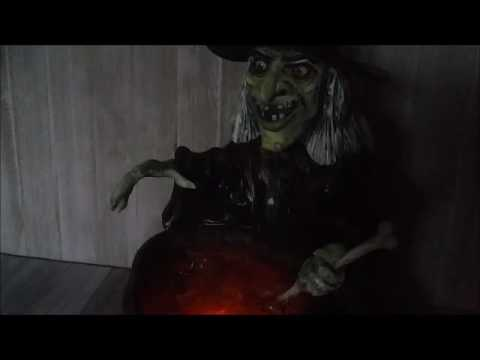 Wicked Witch and her Cauldron Bubbling Brew