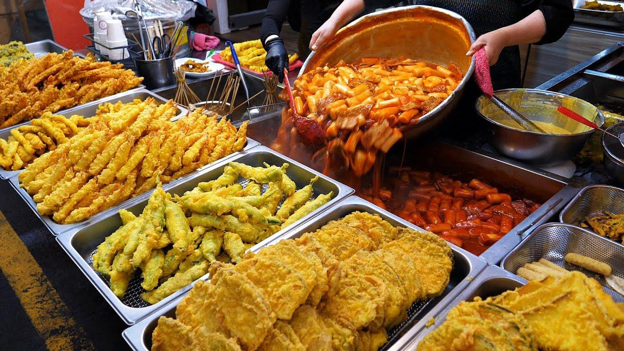 하루 튀김만 10000개 팔리는 역대급 분식집? 줄서서 먹는 왕떡볶이, 수제튀김, 순대 / spicy rice cake Tteokbokki / korea street food