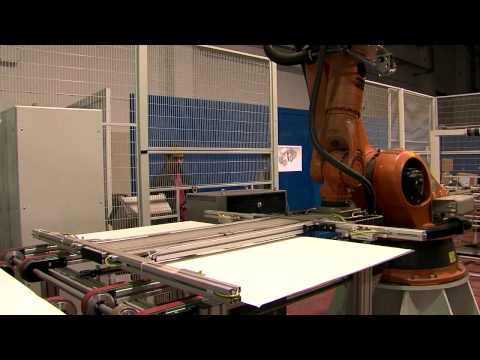 Teknisolar Robostak multilevel PV laminator