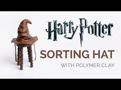 Sorting Hat with Polymer Clay - Harry Potter