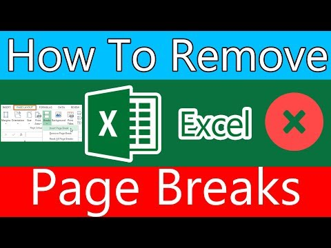 How to Remove Excel 2016 page breaks