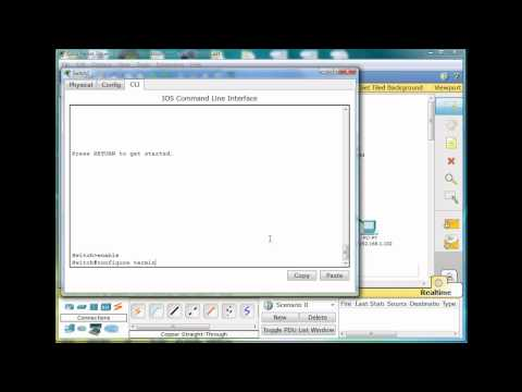 1. Basic Switch and Network Configuration Using Packet Tracer - CCNA