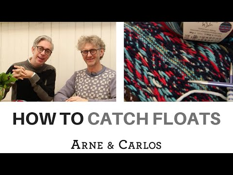 How to catch floats when knitting stranded colour work by ARNE & CARLOS