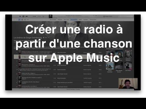 Créer une radio à partir d'une chanson sur Apple Music