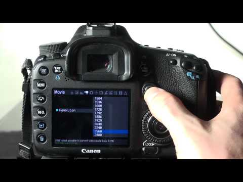 How to record 2k RAW with the Canon 7d and Magic Lantern