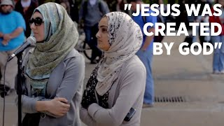 Wretched: Muslim women confront a Christian.