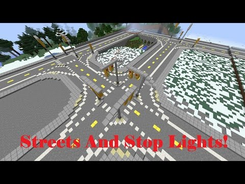 Minecraft-  Let's Build A City.  Ep. 1 (Bridges, Streets, and Stop Lights oh my!)