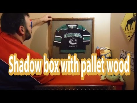 Jersey shadow box on a budget