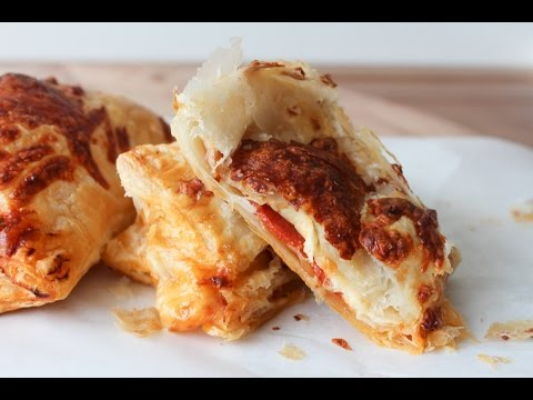 How To Make Pepperoni Pizza Puff Pastry Pockets - By One Kitchen Episode 325