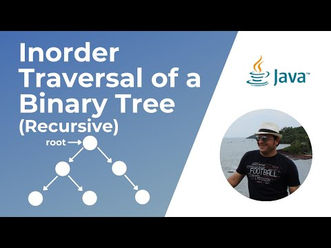 Recursive In-Order traversal of a Binary Tree in Java