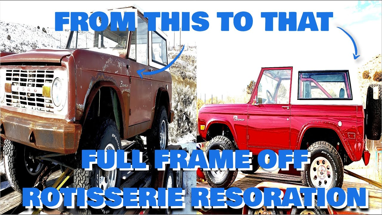 RESTORING A 1969 FORD BRONCO IN 12 MINUTES