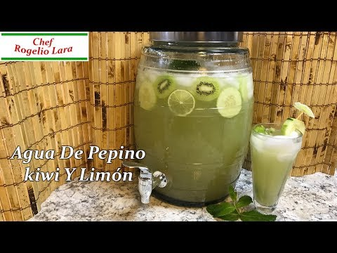 Agua  Fresca De Pepino , Kiwi Y Limón