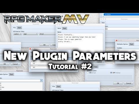 New Plugin Parameters Tutorial #2 - RPG Maker MV Scripting