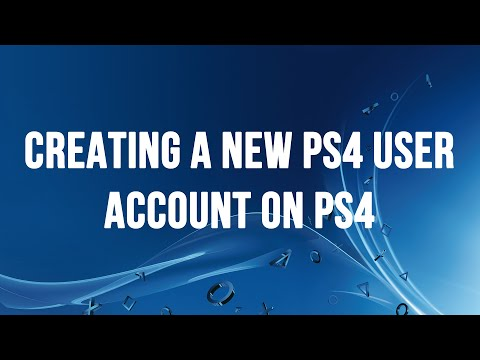 PS4 - Creating a new PS4 User Account and Signing into the PlayStation Network