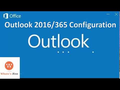 How to Setup Outlook 2016 Email account | Outlook 2016/365 POP/IMAP Configuration