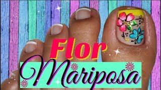 Decoracion De Unas Pies Flores Facil Nail Decoration Feet Flowers