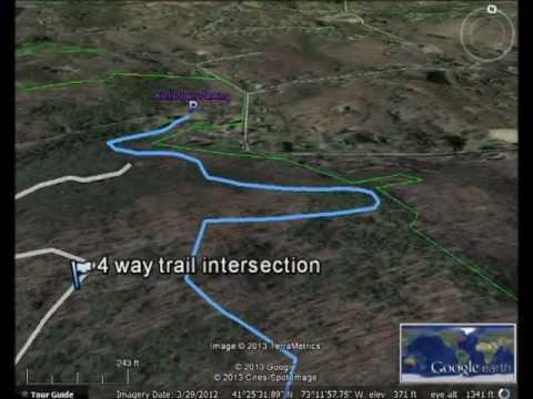 Pomperaug Trail Google Earth Flyover
