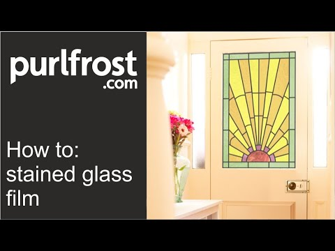 Purlfrost stained glass window film application tutorial