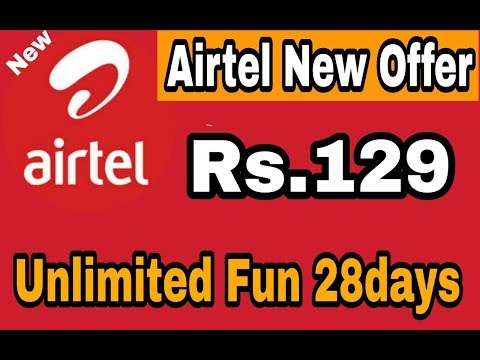 Airtel New offer Unlimited Call 1GB 4G Data Only Rs.129 may 2018
