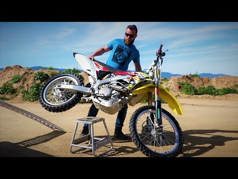 How to put dirt bike on stand - easy way
