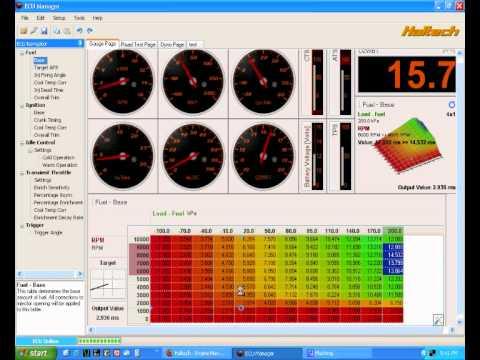 Haltech DIY: ECU Manager software introduction. Part 1