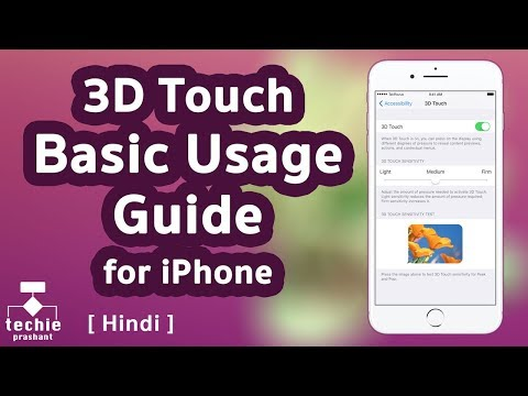 3D Touch Basic Guide for iPhone. HINDI