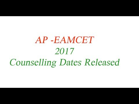 AP-EAMCET Counselling Dates-2017