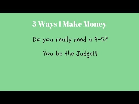 5 Ways I make supplemental income