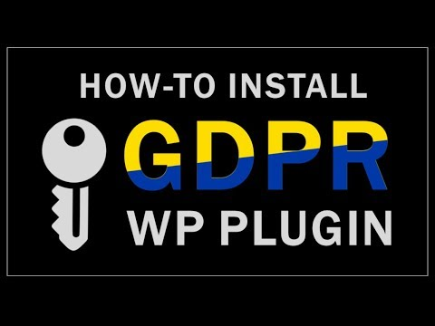 How to Install GDPR WordPress Plugin