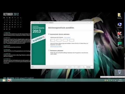 Installation der Kaspersky Internet Security 2013 (Trial) auf Windows 8