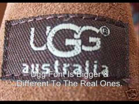 How to spot fake uggs?