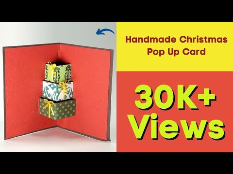 DIY 3D Christmas Card - Handmade Christmas Pop Up Card
