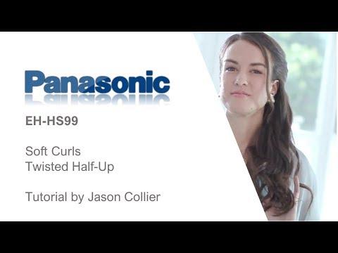 Panasonic EH-HS99 Hair StraightenerTwisted Half Up Tutorial with Jason Collier