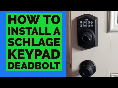 Install SLAGE Keypad Deadbolt Keyless Entry Door Lock