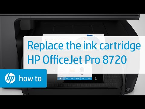 Replacing an Ink Cartridge in the HP OfficeJet Pro 8720 Printer