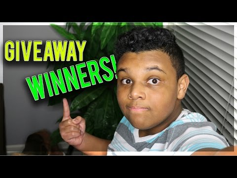 THE OFFICIAL GIVEAWAY WINNERS!