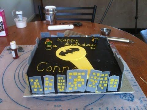 Batman Cake Part 2