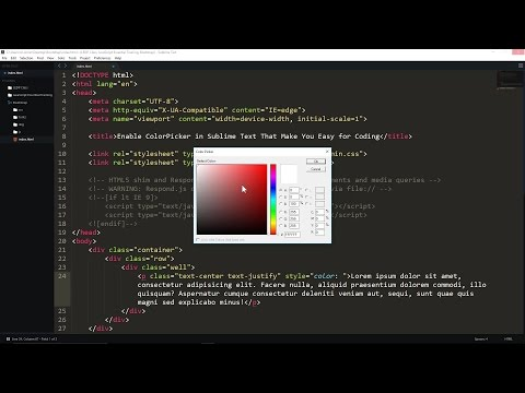 Enable ColorPicker in Sublime Text That Make You Easy for Coding