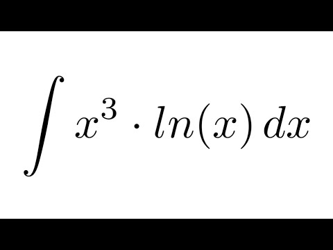 Integral of (x^3)ln(x) (by parts)