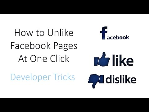 How to Unlike All Facebook pages At Once