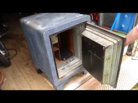 Antique safe opening