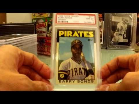 PSA 10 Graded Baseball Card Return - 1980's Bonds, Clemens, Griffey Jr.