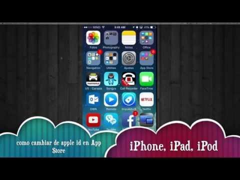 Como entrar y salir de tu cuenta apple id en App Store, cambiar apple id iPhone iPad iPod