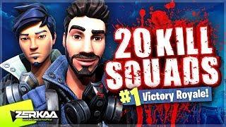20 KILL SQUADS GAMEPLAY! (Fortnite Battle Royale)