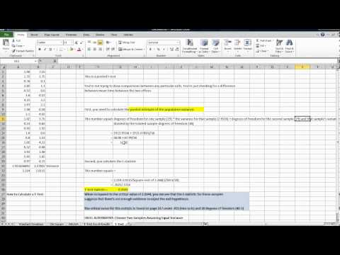 How to Calculate T-Test Statistic