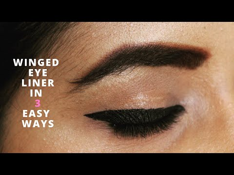 How to: Apply Winged Eyeliner (3 EASY TECHNIQUES)   Happy Pink Studio
