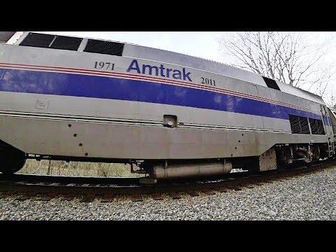 Amtrak #184 with Phase IV Heritage Livery - Burlington to Durham, NC