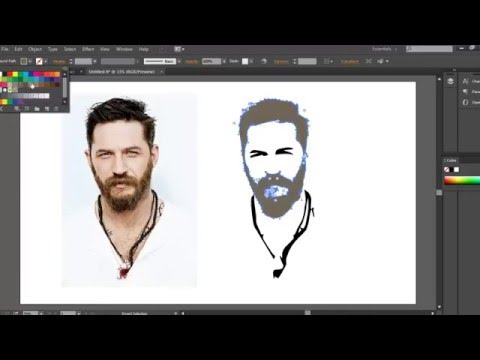 Convert image into vector shape in Adobe Illustrator