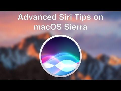 Advanced Siri Tips on macOS Sierra